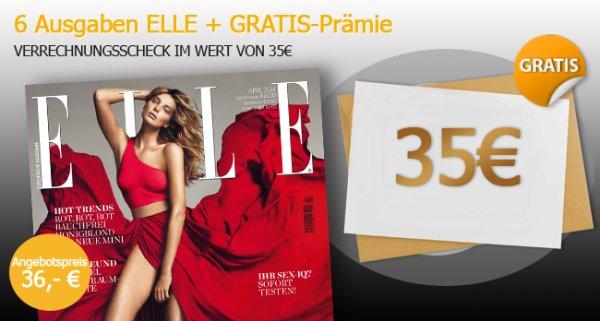 6 Ausgaben ELLE für effektiv 1,00€