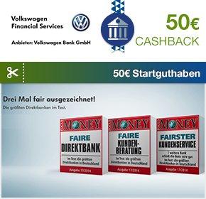 Qipu Finance Special: Volkswagen Girokonto mit 50€ Cashback und 50€ Startguthaben