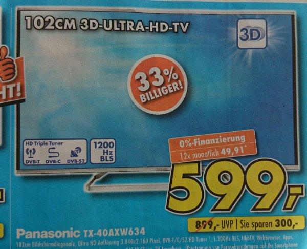 (lokal?) Panasonic tx 40 axw 634