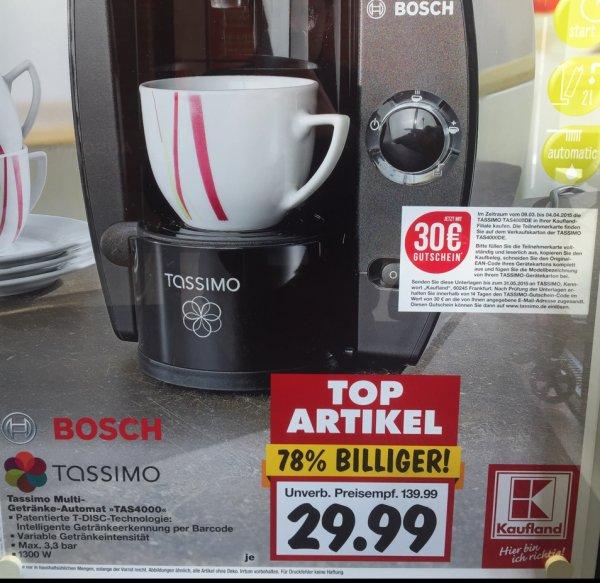 Tassimo TAS4000 ab Montag 09.03.15 bei Kaufland 29,99€ inkl. 30€ Gutschein (Hanau evtl Bundesweit?)