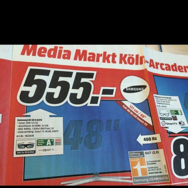 Samsung UE 48 H 6470 ab 02.03. bei Media Markt Köln Kalk Arcaden