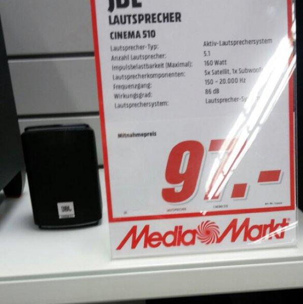 (Lokal) Heimkino 5.1 JBL Lautsprecher Cinema 510 Media Markt Bruchsal