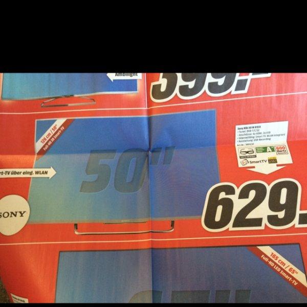 Sony KDL 50 W 815 B für 629,- ab Montag 02.03. bei Media Markt Köln Kalk Arcaden