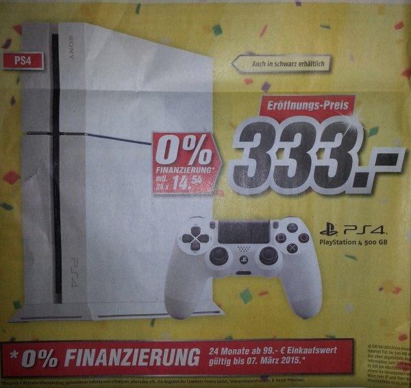 [Lokal Halle-Neustadt] Playstation 4 für 333€ im Medimax Halle-Neustadt nur am 02.03.2015