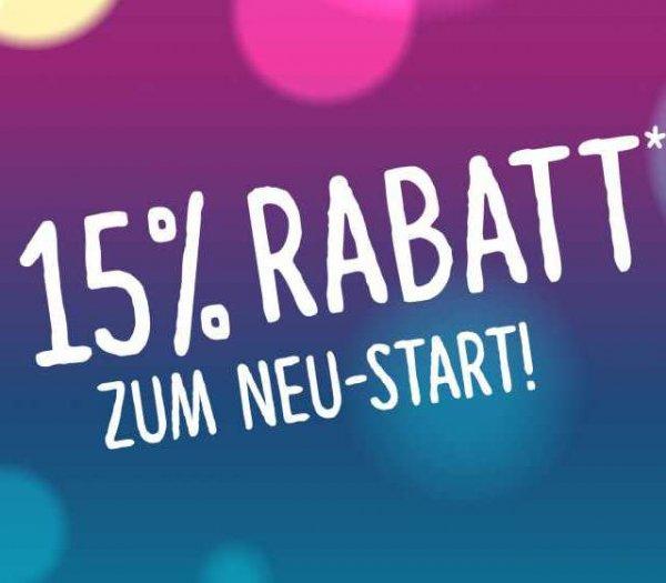 [Lokal Ulm] 15% Rabatt im Blautal Center nur heute noch bis 24 Uhr
