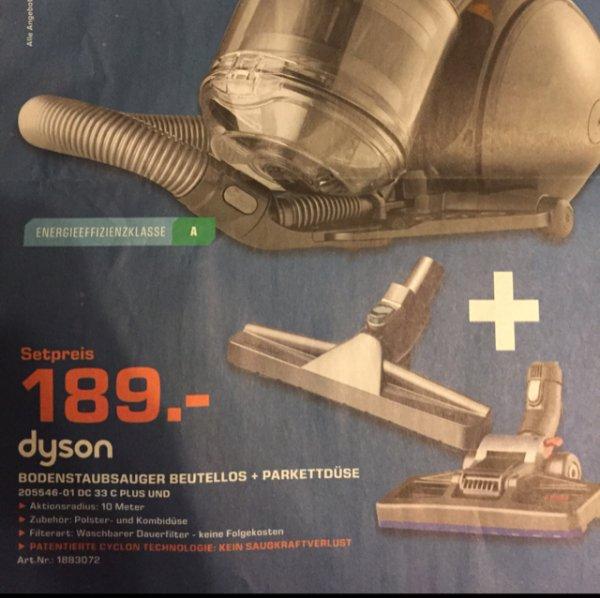 Dyson DC 33 C Plus + Parketbürste  für 189€ [Lokal: Saturn Nürnberg]