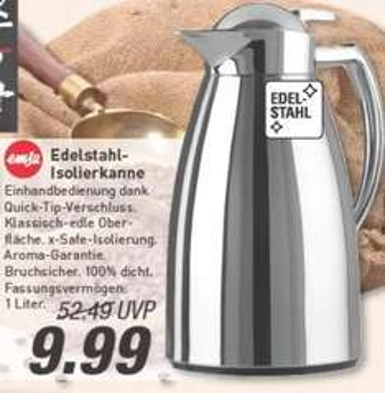 [Marktkauf evtl. nur regional Münster] Emsa Isolierkanne Edelstahl hochpoliert 1,0l für 9,99€ (Idealo ab 43€ [bei Amazon])
