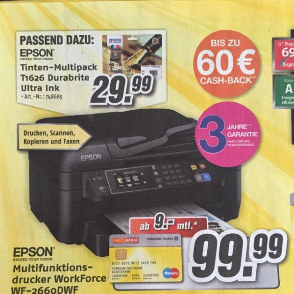 [Lokal Kiel] Epson WF-2660DWF Drucker plus Patronenset