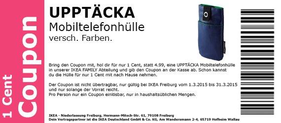Handytasche UPPTÄCKA  für 1 Cent (statt 4,99€)  versch Farben @Ikea Freiburg  bis 31.03