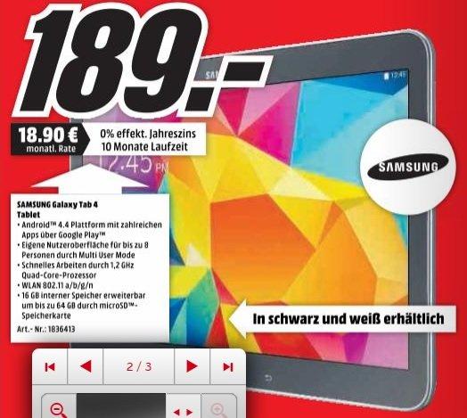 [Lokal Wolfsburg] Samsung Galaxy Tab 4 10.1 Zoll