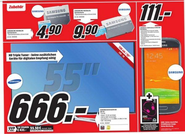 [Mediamarkt - Karlsruhe] Samsung Micro SD 16GB: 4,90€, 32GB 9,90€