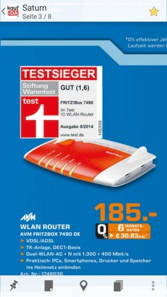 Offline Saturn Celle: AVM Fritz Box 7490 für 185 Euro