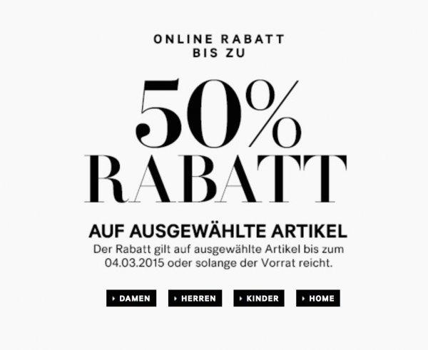 [H&M ONLINE] ausgewählte Frühlingsmode für Sie und Ihn bis zu 50% günstiger (nur 3 Tage!)