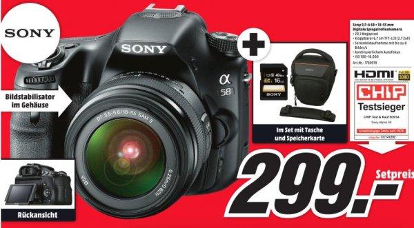 (Lokal) MediaMarkt Köln-Arcaden Sony Alpha 58+Tasche+16GB SD Karte