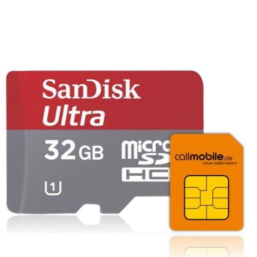 callmobile SIM-Karte + 32GB SanDisk Mobile Ultra microSD