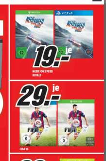 Media Markt Zwickau NFS Rivals/FIFA 15 PS4/XboxO