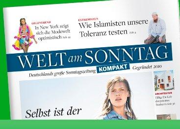 Welt am Sonntag KOMPAKT 9 Ausgaben für effektiv 5,60€ durch 10€ Tankgutschein