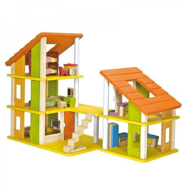 PlanToys - Chalet Puppenhaus mit Möbel für 59,99€ + VSK @besserepreise.com