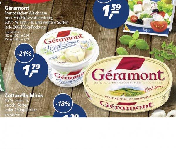 [REAL] Géramont Weichkäse 200/150 g - verschied. Sorten für 0,94 EUR...... (09.03 - 21.03.)