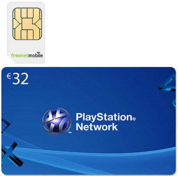 FreenetMobile SIM-Karte+ psn Guthaben 32€
