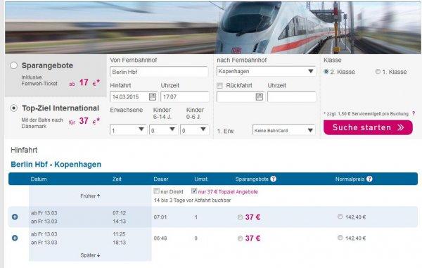 L'TUR Bahn: Dänemark ab 37€ (keine Service-Gebühr via iOS App)