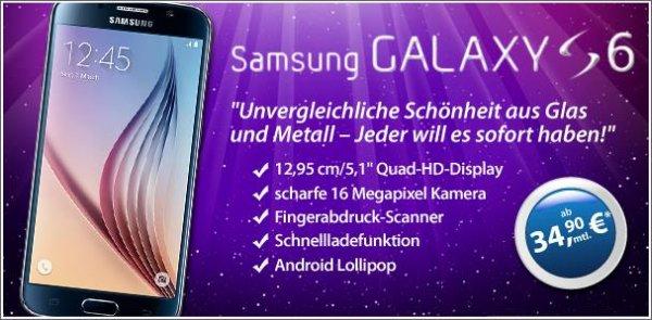Samsung Galaxy S6 für 34,90 € monatlich bei 1€ Zuzahlung Vodafone-Netz