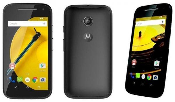 Motorola Moto E 2. Generation Smartphone mit LTE (4,5 Zoll) QHD-Touchscreen-Display, 5 Megapixel Kamera, 1,2GHz Dual-Core-Prozessor, 1GB RAM, 8GB interner Speicher, Micro-SIM, Android 5 Lollipop) schwarz