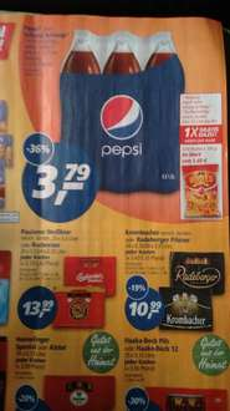Real ab 09.03. 6er Pepsi oder Schwipp Schwapp 1,5l 3,79€ + Gratis Tüte Bugles