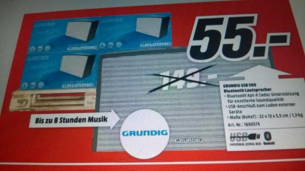 lokal MM HH Grundig GSB Bluetooth Lautsprecher 55€