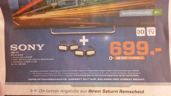 Sony LED TV 50 für 699,-€ *Saturn*