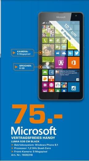 Microsoft Lumia 535 @ Saturn Bielefeld