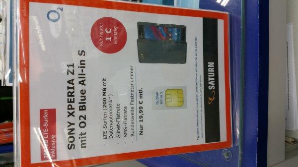 Sony XPERİA Z1 + Allnet-Flat für 19,99€ im Monat