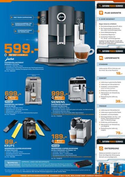 (Lokal Braunschweig) Jura Impressa C75 Kaffeevollautomat 14% unter Idealo