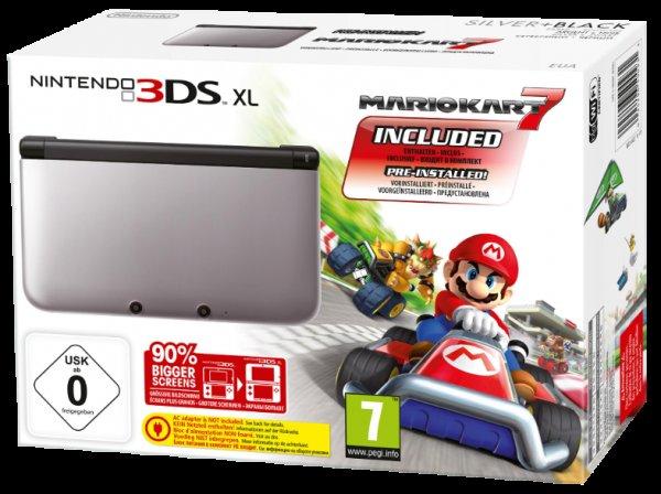 NINTENDO 3DS XL silber schwarz inkl. Mario Kart 7 für 170€ @saturn.de