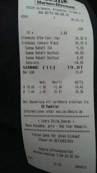 cremeso compact one + 10 packungen capseln für 19.01€