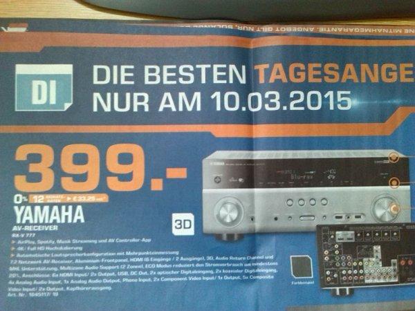 [Lokal Hamburg] Yamaha RX-V 777 Receiver 399,- Tagesangebot Saturn nur am 10.03.15