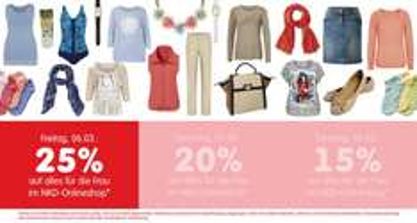 NKD - heute 25% auf alles für die Frau