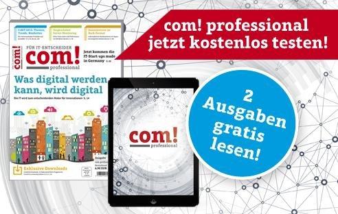 Zwei Ausgaben der com! professional + gratis eBook