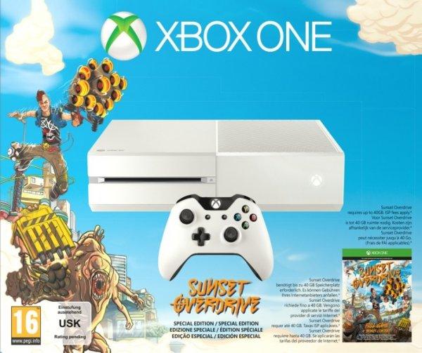[Lokal - Nürnberg] MediaMarkt: Xbox One weiß Sunset Overdrive 299,- / Schwarz Standard 299,- / PS 4 + Controller + Spiel nach Wahl 399,- / jeweils plus Alt gegen Neu Gutschein (+25€)