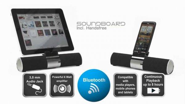 MOBISET Sound2Go - Bluetooth Soundboard mit Freisprecheinrichtung für 22,99 €