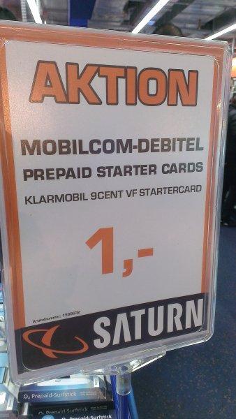 1 Euro Klarmobile Prepaid Karte Lokal Stuttgart Saturn Königsbau