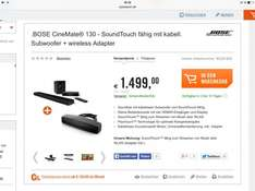 BOSE CineMate® 130 - mit kabell. Subwoofer + wireless Adapter