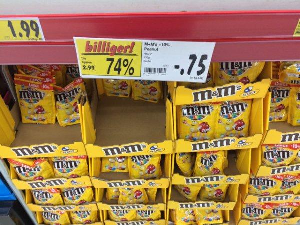 [Lokal Kaufland Hamburg Neugraben] m&m's peanut +10% 330g 0,75 € MHD