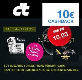 [Qipu] Testabo: c`t Abo Plus mit 10€ Cashback + Quadrocopter