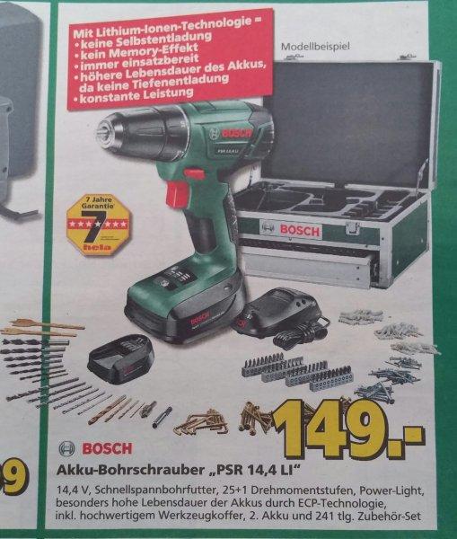 [hela baumarkt] Bosch Akku-Bohrschrauber Psr 14,4 Li 149€