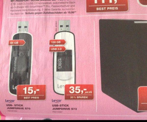 [Staples/Bundesweit] Lexar Jumpdrive S73 128 GB USB 3.0