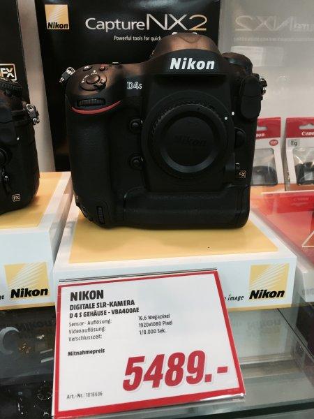 Nikon D4S für 5489,- im Media Markt Frankfurt Nordwestzentrum