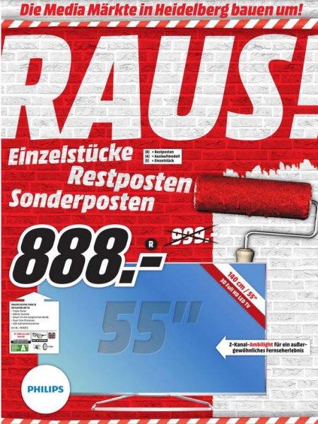 [lokal] Heidelberg Media Markt - Philips 55PFK7109: 888€ (Idealo ab 980€)