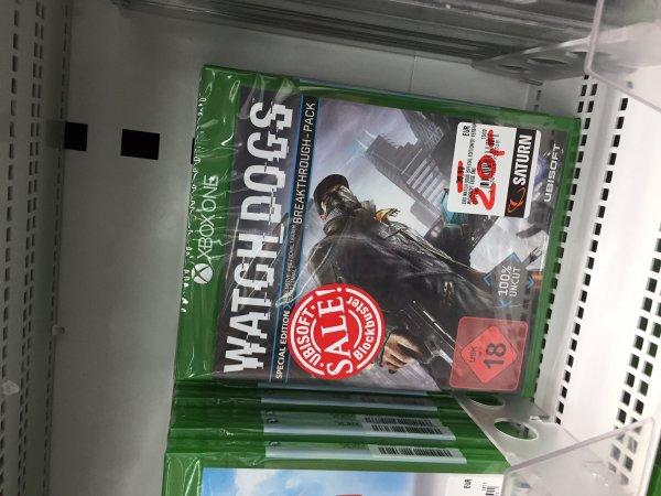 [LOKAL Berlin] Saturn Europacenter Watchdogs Xbox One 20,- und weitere Games