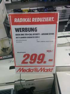 XBOX ONE 1TB inkl. COD Advanced Warfare für 299€ im Media Markt Nordwestzentrum FFM